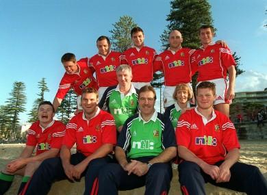 The Irish Lions' contingent in 2001.