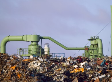 Landfills are common sources of methane, which is produced as waste decomposes.