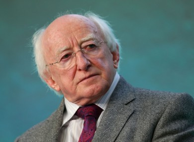 President Michael D Higgins is to address the European Parliament today (file photo).
