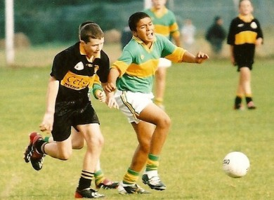A young Simon Zebo in action for St Michael's.