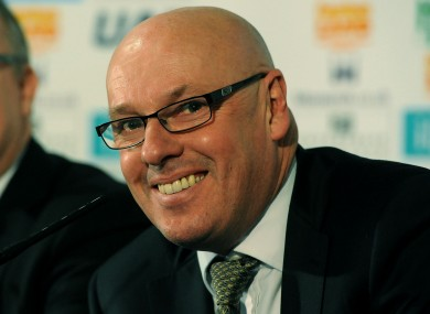 Leeds United manager Brian McDermott speaks during the press conference at Elland Road.