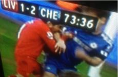 VIDEO: Luis Suarez appears to bite Branislav Ivanović