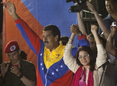 President Nicolas Maduro and his wife, Attorney General Cilia Flores.