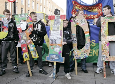 A rally by the Irish Traveller community in 2009.