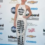 Miley Cyrus wore something someone's nan crocheted for her.  It's actually kind of cool.  John Shearer/Invision/AP