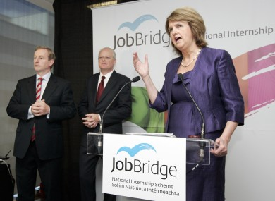An Taoiseach, Enda Kenny TD, left, Minister for Social Protection, Joan Burton TD, and Martin Murphy, Managing Director of HP Ireland, launched JobBridge, the Government's new National Internship Scheme