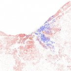 Cleveland's black-white dissimilarity score is 72.6, according to a study of 2010 Census data by professors John Logan and Brian Stults of Brown and Florida State University. A score above 60 on the dissimilarity index is considered very high segregation. The red dots show white people, blue is black, orange is Hispanic, green is Asian, and yellow is other, according to maps of 2010 Census data by Eric Fischer.