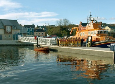The new station and pontoon