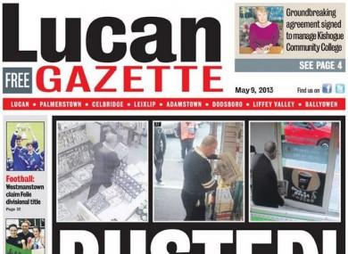 Lucan Gazette front page