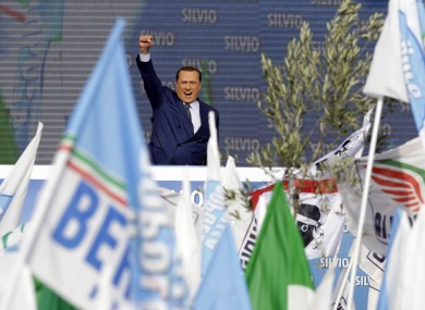 Silvio Berlusconi remains intensely popular in Italy, despite his numerous convictions over business offences. (File photo.)