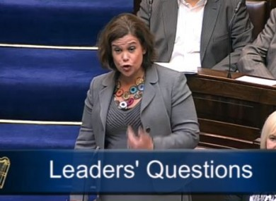 Mary-Lou McDonald speaking in the Dáil this morning.