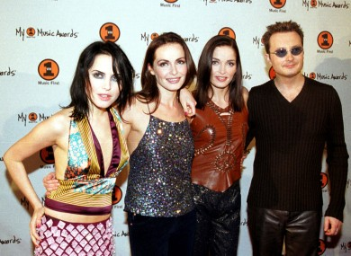 Irish band The Corrs, at the My VH1 Awards 2000, at the Shrine Auditorium in Los Angeles. The Corrs won the 'Best-Kept Secret' award.