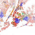 Most of Manhattan is white south of 125th Street, with the exception of Chinatown. South Brooklyn is mostly white, with pockets of Asians and Hispanics, and Northeast Brooklyn going into Queens is heavily black. Queens and the Bronx are highly diverse. The New York City area's  black-white dissimilarity score is 79.1, according to a study of 2010 Census data by professors John Logan and Brian Stults of Brown and Florida State University. A score above 60 on the dissimilarity index is considered very high segregation. The red dots show white people, blue is black, orange is Hispanic, green is Asian, and yellow is other, according to maps of 2010 Census data by Eric Fischer.