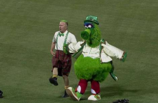It's Your Giant Green Mascot Doing An Irish Jig Video Of The Day