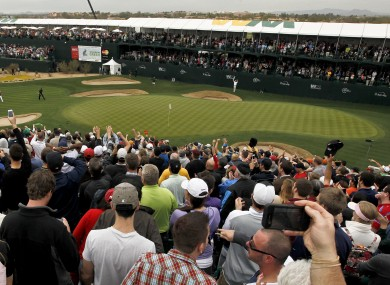 The infamous 16th hole at TPC Scottsdale.