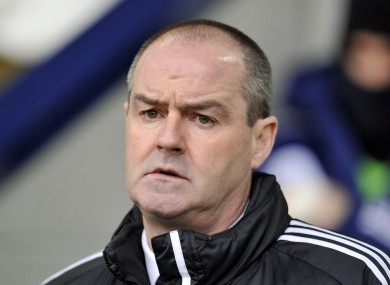 West Bromwich Albion's manager Steve Clarke during a Barclays Premier League match at The Hawthorns.