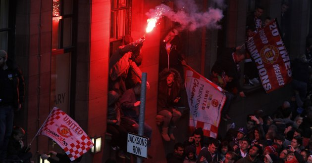 United Fans Flares The Manchester United Fans