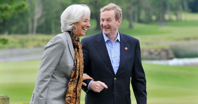 Caption competition*: What are Christine and Enda laughing about?