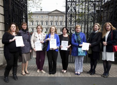 Arlette Lyons, Fiona Walsh, Ruth Bowie, Sarah McGuinness, Julie O Donnell, Agatha Corcoran, Deirdre Conroy and Gaye Edwards all from TMFRA.