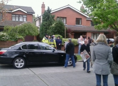 An anti-abortion protest outside Justice Minister Alan Shatter's home last month.