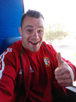 Cian Healy pictured before the Lions set off for Australia.