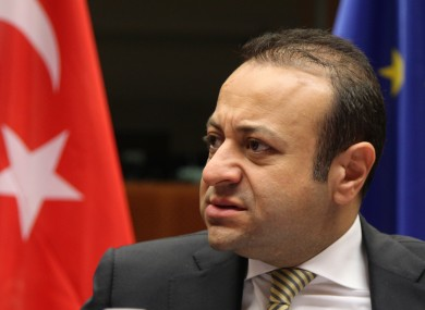 Turkish minister Egemen Bagis, whose comments sparked the