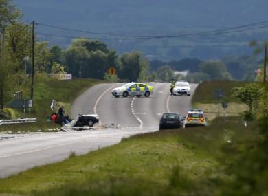 File image of fatal car crash.