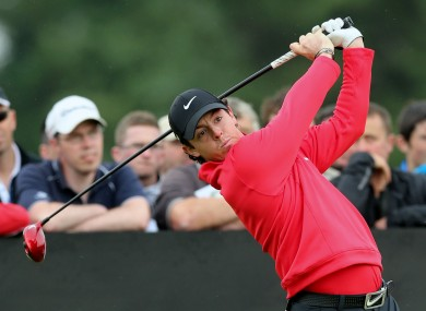 Northern Ireland's Rory McIlroy during day one of the Irish Open.