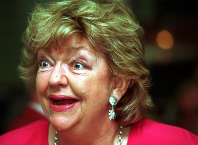 File photo of the late Maeve Binchy.
