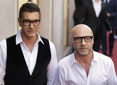 Stefano Gabbana, left, and Domenico Dolce were found guilty of setting up a shell company in Luxembourg through which they avoided taxes in Italy.
