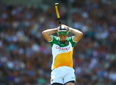 Offaly's Joe Bergin dejected last time out after defeat to Kilkenny.