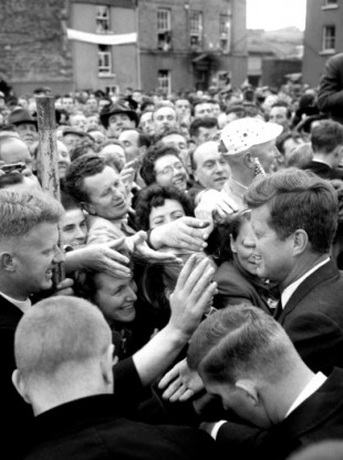 President John F Kennedy during his visit to New Ross, County Wexford