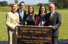 McAleese honoured with bridge in her name