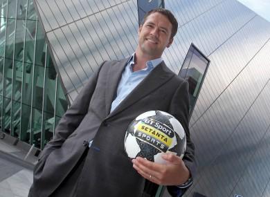 Owen at yesterday's Setanta Sports / BT Sport announcement in Dublin.
