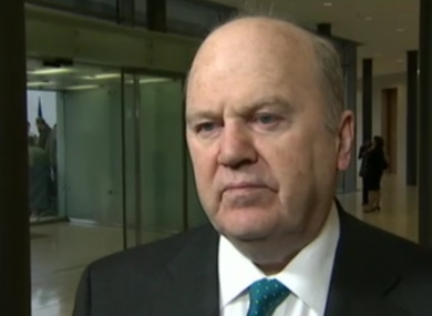 Michael Noonan speaking to the media this morning