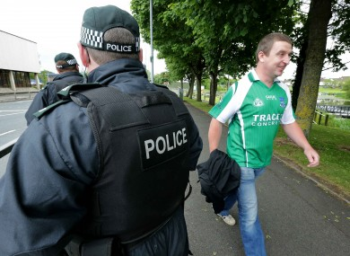 There was a heavy police presence at Brewster Park, given the high-profile G8 summit being prepared only five miles away.