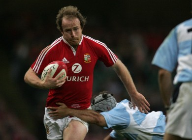 Denis Hickie in action against Argentina in 2005.