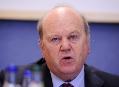 Fine Gael Minister for Finance Michael Noonan