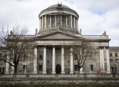 The Four Courts which houses the High Court and the Supreme Court and civil cases.