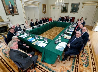 Council of State meeting at Áras an Uachtaráin yesterday.