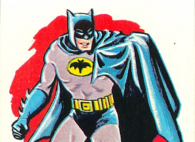 Batman, as he might look after accidentally locking himself into a building