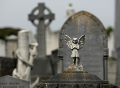 Bethany infants unmarked graves in Mount Jerome Cemetary in Dublin