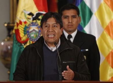 Bolivia's Foreign Minister David Choquehuanca