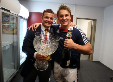 Brian O'Driscoll and Jonathan Davies want to fill that cup with champers.