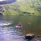 Cooling down in Lough Mohra in the Comeragh mountains in County Waterford. Pic: Mary Greene