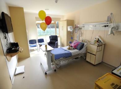 A room in Crumlin Hospital