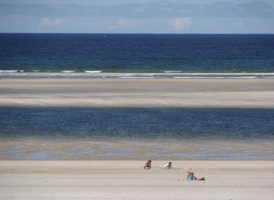 File image of Maghera Beach in Co Donegal where the man drowned this evening.