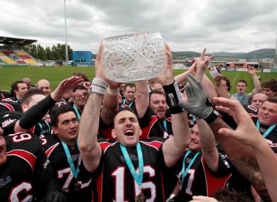 Dublin Rebels after their 2010 Shamrock Bowl win.