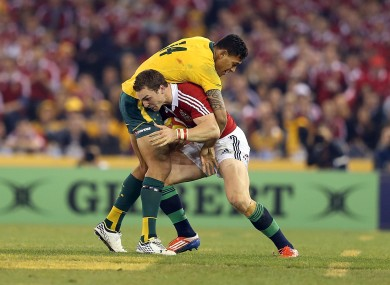 'Here we go again'. Israel Folau will face George North in Sydney.