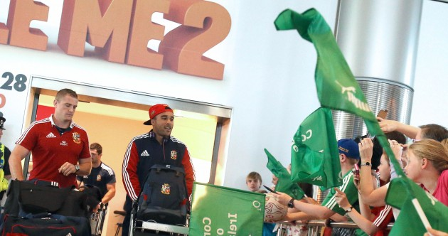 In pics: Weary Irish Lions arrive back to hot and hectic Dublin Airport